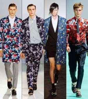Модные тренды в мужской одежде 2013: цветочные принты для уверенных в себе мужчин