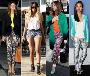 Джинсы с цветочными принтами - топ тенденция 2012