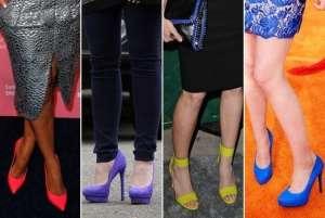 Примерьте новый тренд 2012 - цветные туфли