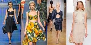 Юбка с завышенной талией - весенний тренд 2012