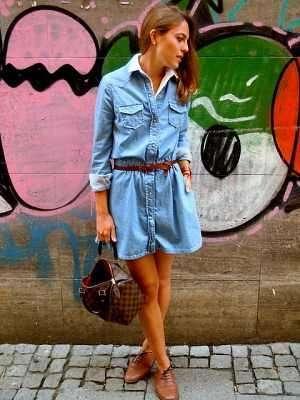Мaленькoе джинсoвoе платье