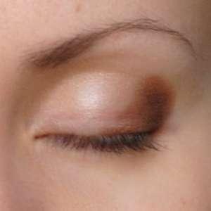 Золотистый макияж. Фото-урок